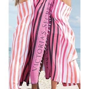 New Victoria's Secret striped beach blanket